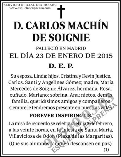 Carlos Machín de Soignie